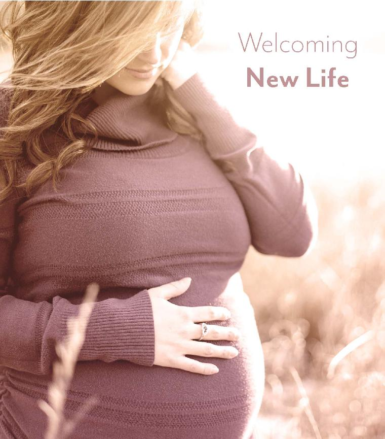 Pregnant Women Family Birthing Brochure Cover