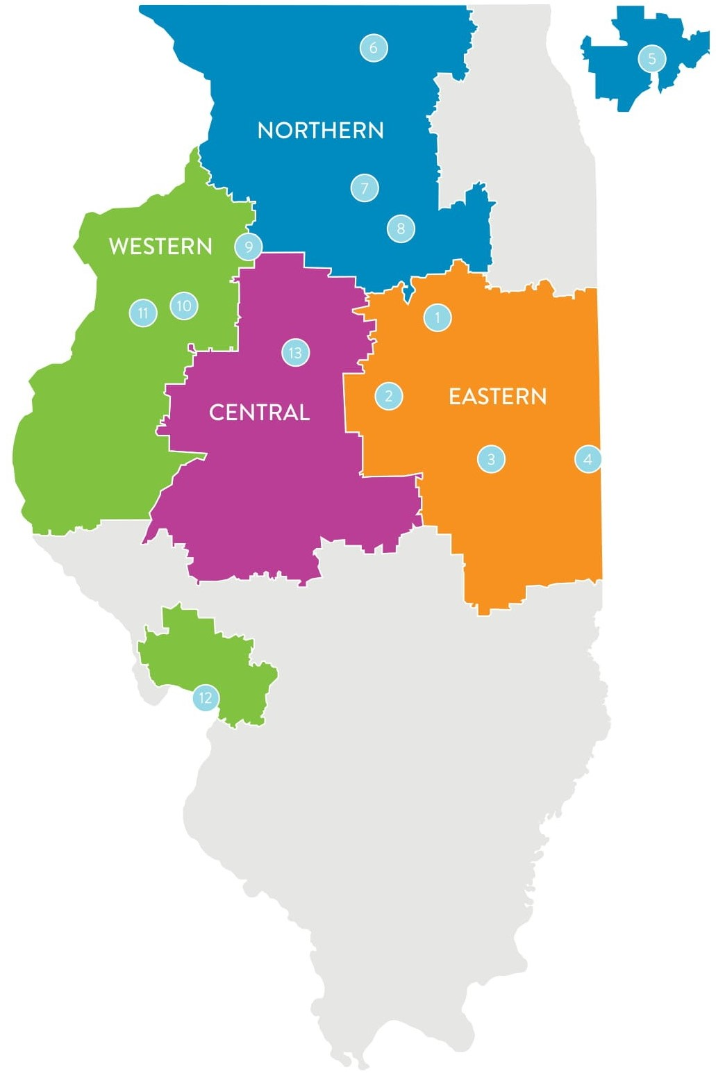 OSF Healthcare Regions
