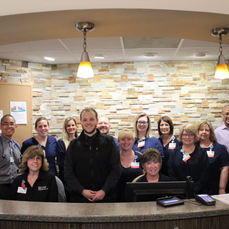 Ryan Washkowiak And SHMC Oncology Staff