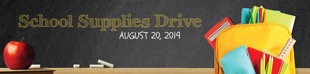 School Supply Drive August 20, 2019