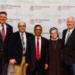 Rep. Darin LaHood, Dr. Pearl, Dr. Shah, Sister Judith Ann and Dr. Bash